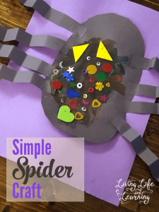 Create your own creepy simple spider craft, a perfect kids activity for young kids