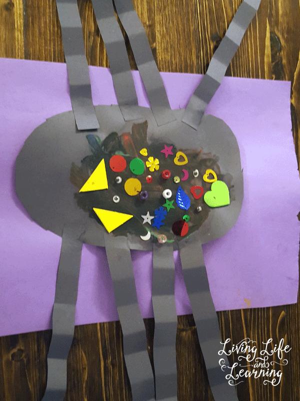 simple spider craft