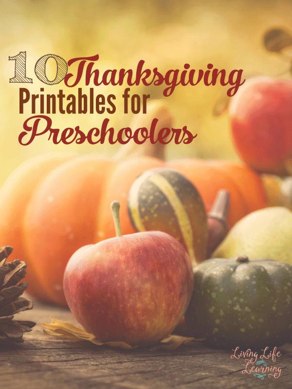 best thanksgiving printables for preschoolers
