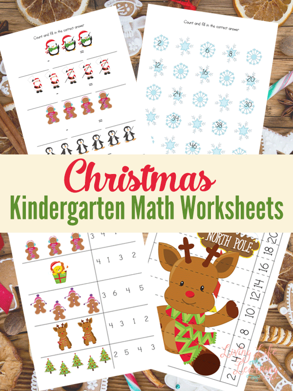 Christmas Kindergarten Math Worksheets