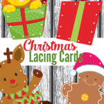 Create your own lacing cards with these printable Christmas lacing cards to add a fun Christmas theme for fine motor practice.