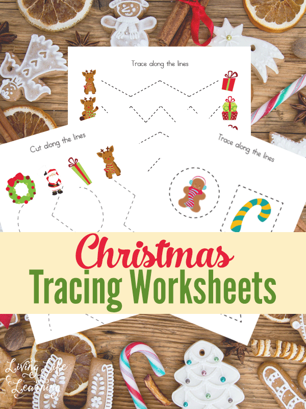 Have fun with these Christmas tracing worksheets to practice your pre-writing skills, perfect for preschoolers and kindergarten students. A wonderful way to help kids practice their fine motor skills. #preschool #kindergarten #homeschool #Christmas