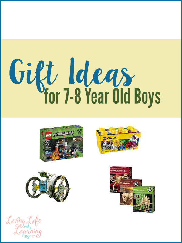 Don't know what to get that crazy boy in your life? These gift ideas for 7-8 year old boys will give you a great list to go out and buy the best gift ever so you'll be the favorite. #Christmas #Giftideas #Gifts