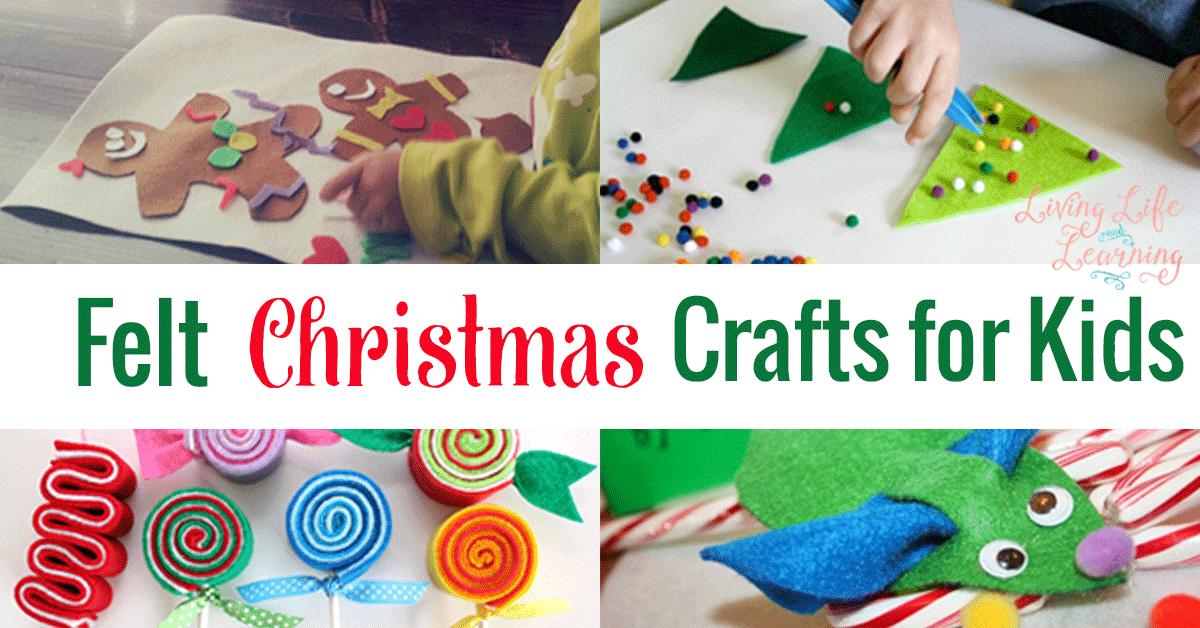 Felt christmas crafts for kids for Felt christmas crafts for kids