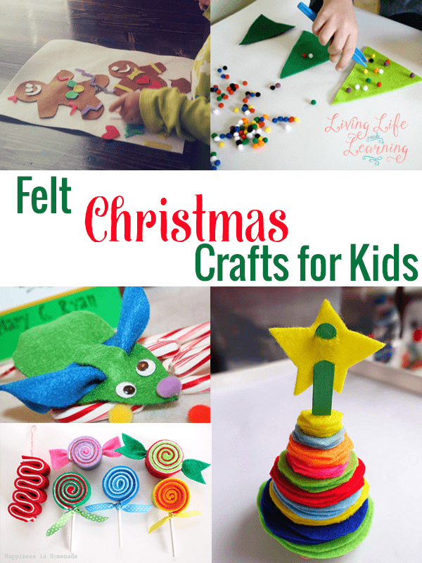 As you're heading into the holidays and if you have some felt, these are simple felt Christmas crafts for you to try with your kids.