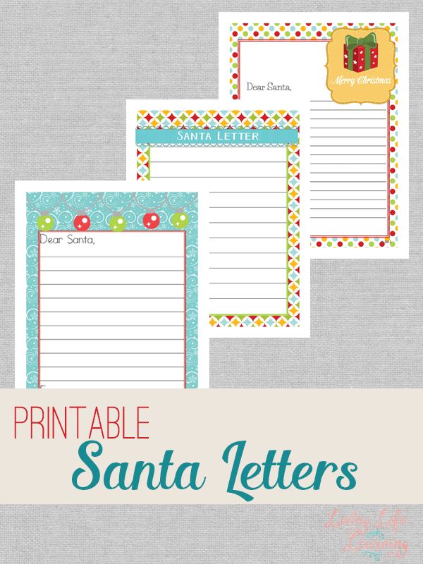 Write your own letters to Santa Claus for Christmas with these cute printable Santa letters - a fun way to have your child write out their wishlist.