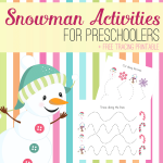 These awesome snowman activities can complement any book, try some of these snowman activities for preschoolers and get my snowman tracing worksheets.