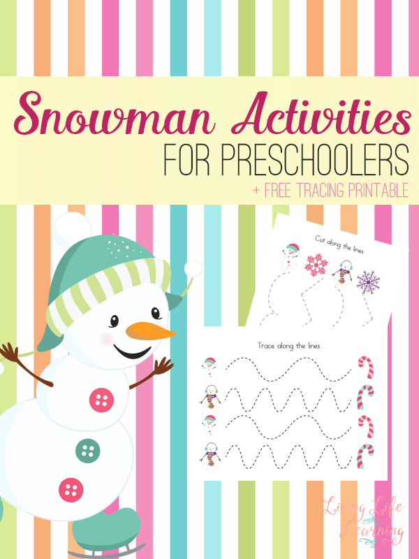 Try these fun snowman tracing activities for preschoolers and see the fun snowman activities you can create.