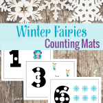 These Winter Fairies Counting Mats are a great way to get your little one's counting with ease! Don't delay in printing these today!