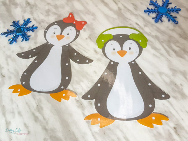 Penguin Lacing Cards