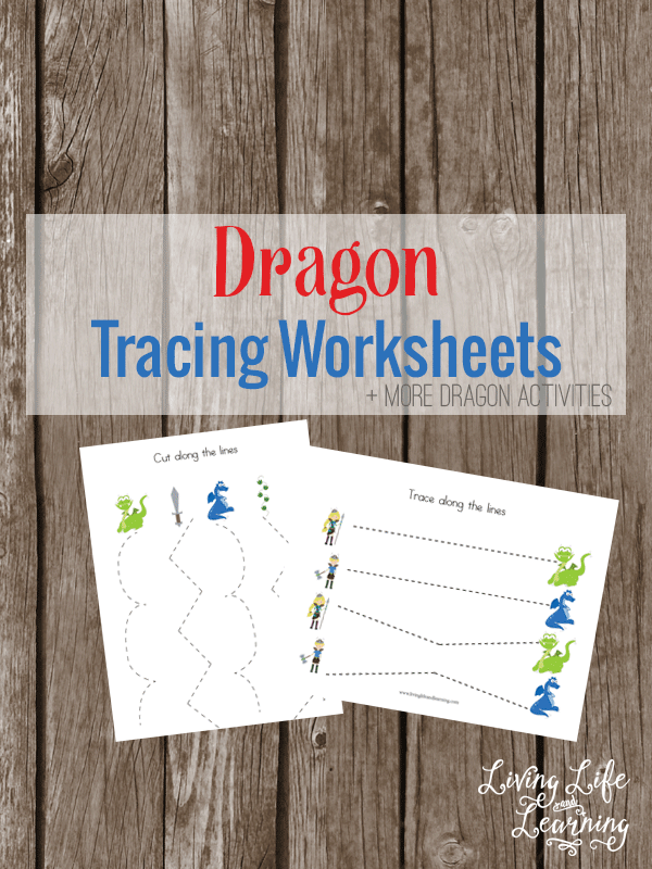 Need help with those fine motor pre-writing skills, these dragon tracing worksheets are loads of fun for your little one