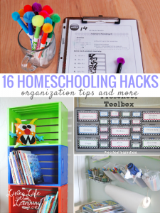 Stay on top of the school work with these homeschool hacks and organization tips to keep you sane.