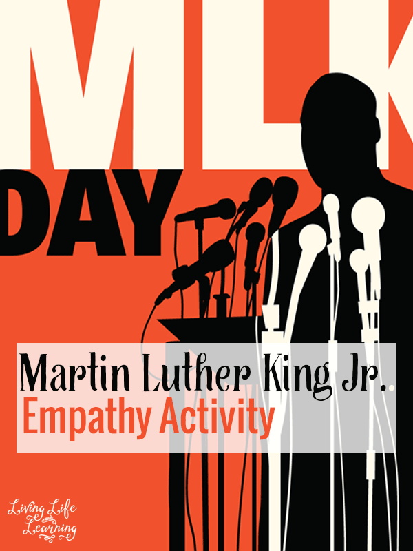 Some might consider Martin Luther King Jr a superhero, let that inspire you to go through this empathy activity with your child.