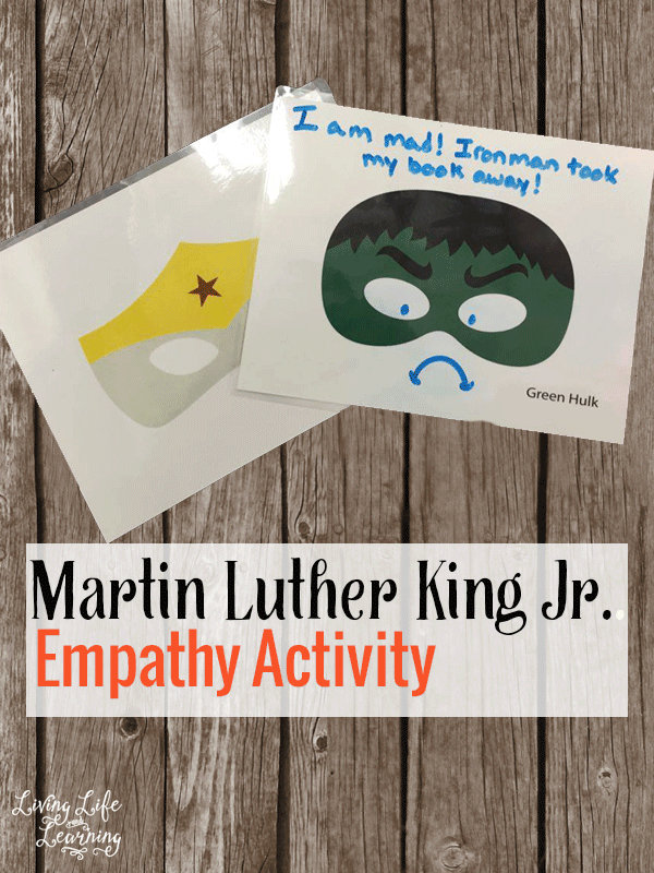 These super hero empathy activities were inspired by Martin Luther King Jr.