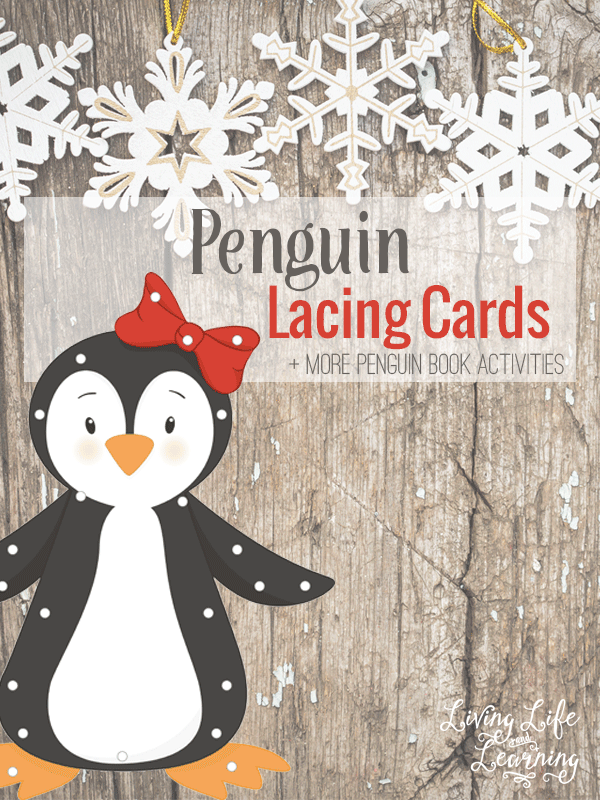My daughter loves playing with her printable penguin lacing cards, they're a perfect activity to accompany any penguin book.