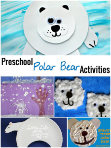 My daughter love animals and these Preschool Polar Bear Activities are a fun way to make those drab winter days fun