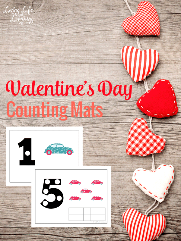 Valentine's Day Counting Mats