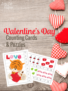 Valentine's Day Counting Cards and Puzzles