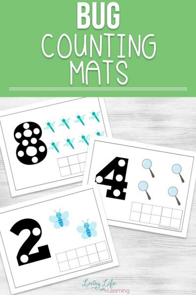 Get counting with your kids, your little one will enjoy these cute bug counting mats to count from 1 to 10, also use them for addition and subtraction.