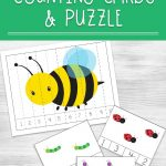 Learn to count with these bug counting cards and puzzles. Keep learning numbers fun. These free printable will help teach kids numbers 1 through 10.