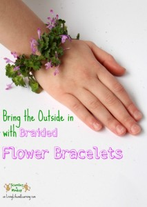 Feeling like you just can't wait for spring? Bring a little spring indoors with these braided flower bracelets made from real wildflowers!