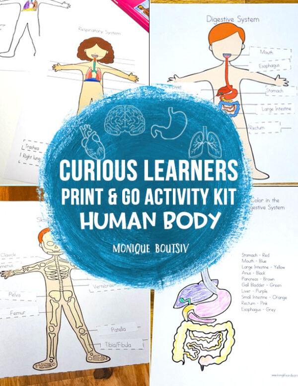 Curious Learners Print & Go Activity Kit: Human Body