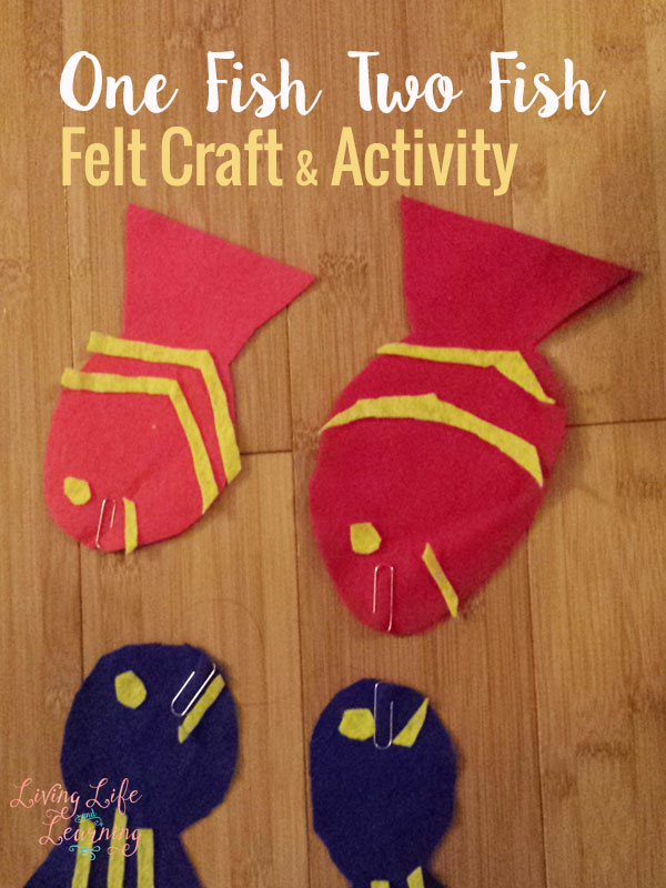 Bring your favorite Dr. Seuss book One Fish Two Fish to life by going fishing with these one fish two fish felt craft.