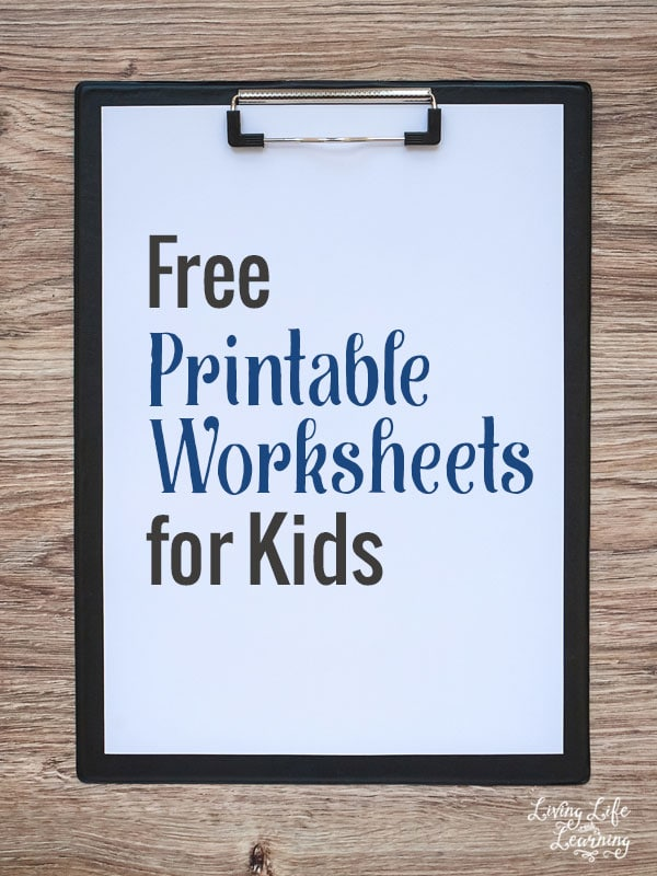 Use these free printable worksheets for kids with your own children and save some money on curriculum, learn as long as you have a printer.