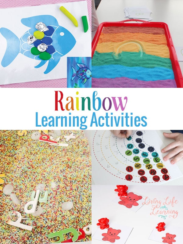 What a great way to make learning fun, add some rainbows with these rainbow learning activities
