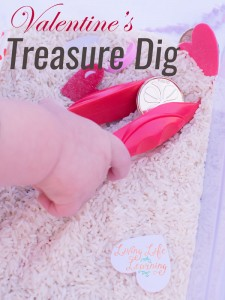 Check out how much fun my toddler had with this simple Valentine's Treasure Dig! He got to use tweezers for the first time, practiced his fine motor skills, and had a blast.