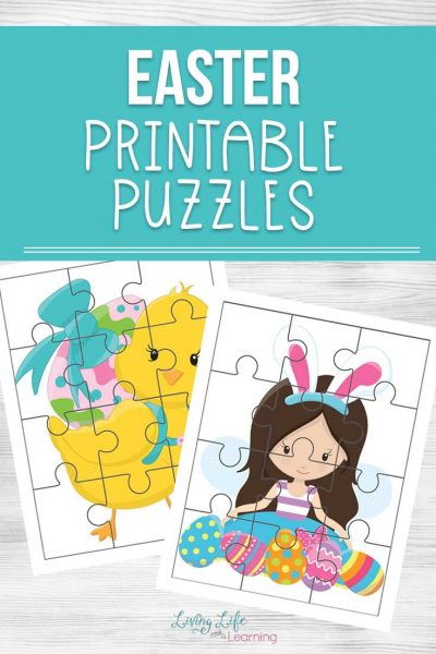 Create your own DIY Easter basket with these adorable Easter printable puzzles. They're a great learning activity and non-candy option for your Easter basket.