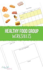 Healthy Food Group Worksheets