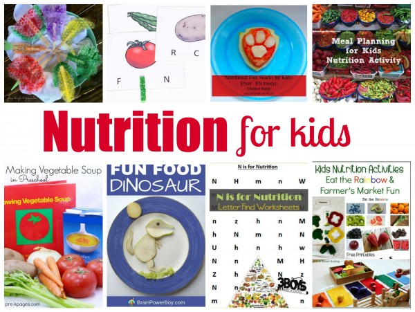 Nutrition For Kids Unit Studies