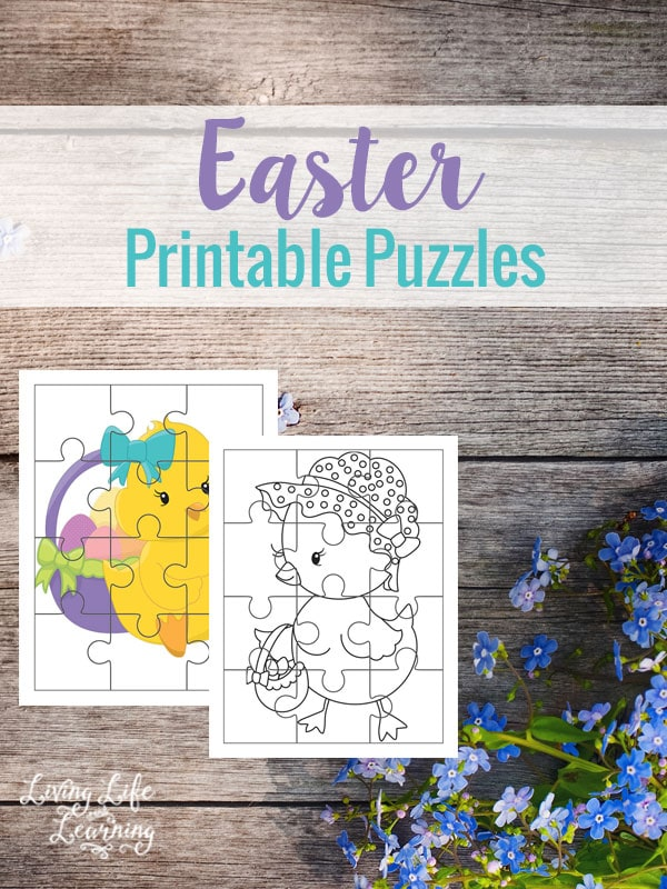 Great your own DIY Easter basket with these adorable Easter printable puzzles.