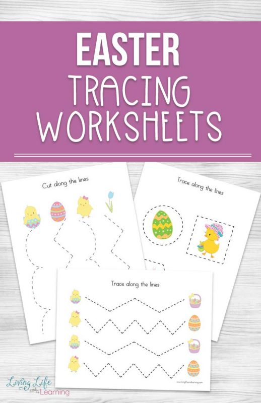 Need to work on your child's pre-writing skills? Try these cute Easter Tracing Worksheets for tracing and cut practice to refine those fine motor skills. A perfect activity for preschoolers who need to get the hang of tracing and scissor skills.