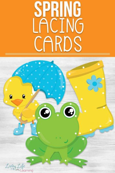 Practice your fine motors skills with these cute spring lacing cards, your preschooler can have a blast lacing up these cards in a fun spring theme.