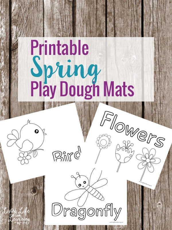 Bring spring into your home with these Printable Spring Play Dough Mats