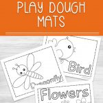 These printable Spring Play Dough Mats are educational and fun. Perfect for preschoolers and kindergarteners to learn, explore and create! Use play dough to spell these spring words and shape these fun spring items like flowers, birds, and bugs.