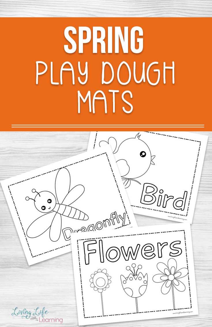 photo regarding Printable Playdough Mats known as Printable Spring Enjoy Dough Mats