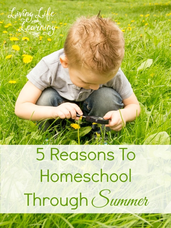 If you have never considered venturing away from the traditional school-year schedule, then check out these reasons to homeschool through summer and see if you could benefit from a change of pace.