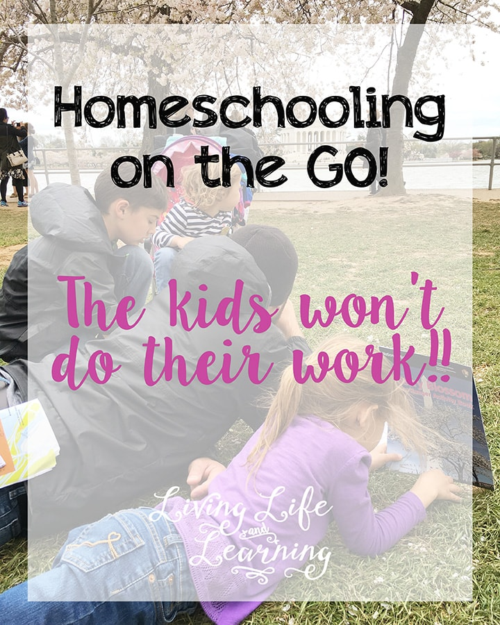 The Kids Won't Do Their Work! Homeschooling on the Go isn't always easy. The kids can get burned out just like us. It will be just fine.