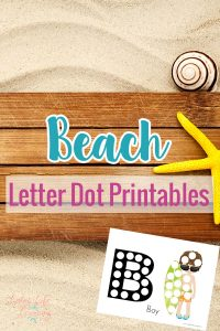 Have fun coloring these beach letter dot printables with your dot markers this summer