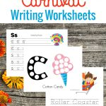 Are you visiting a carnival this summer? Get writing with these carnival writing worksheets for your little ones.