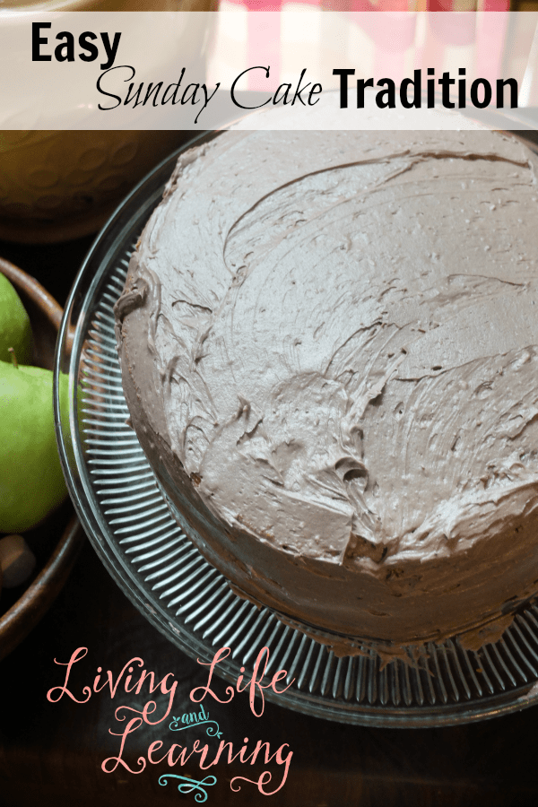 Make great memories with this easy Sunday cake tradition and bring your family together with yummy food