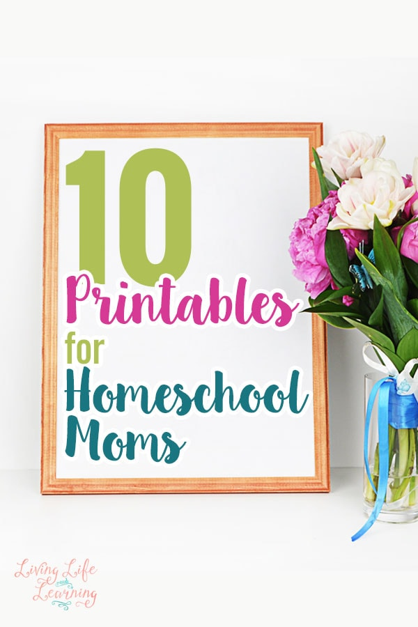 Start the year off right and get organized with these 10 printables for homeschool moms
