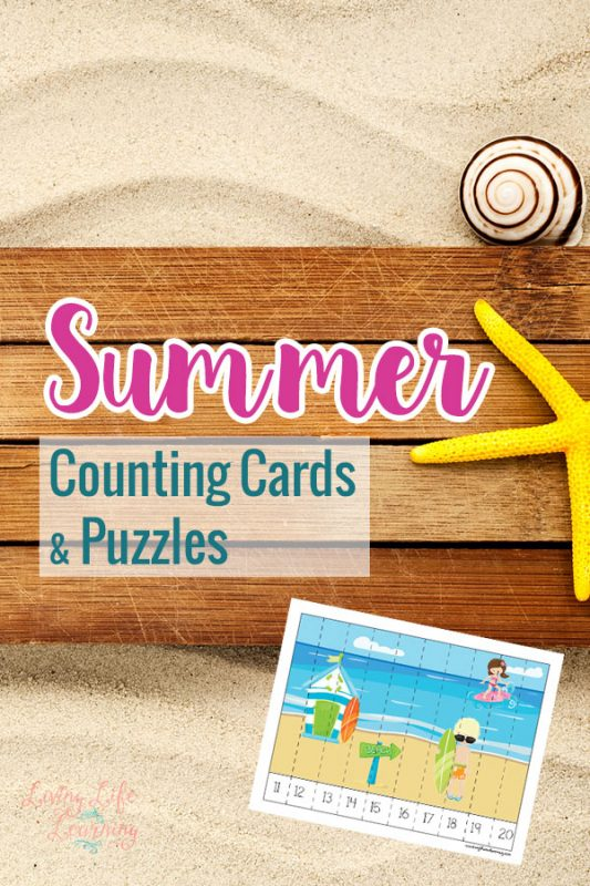 Have fun counting with these summer counting cards and puzzles, who said counting had to be boring?