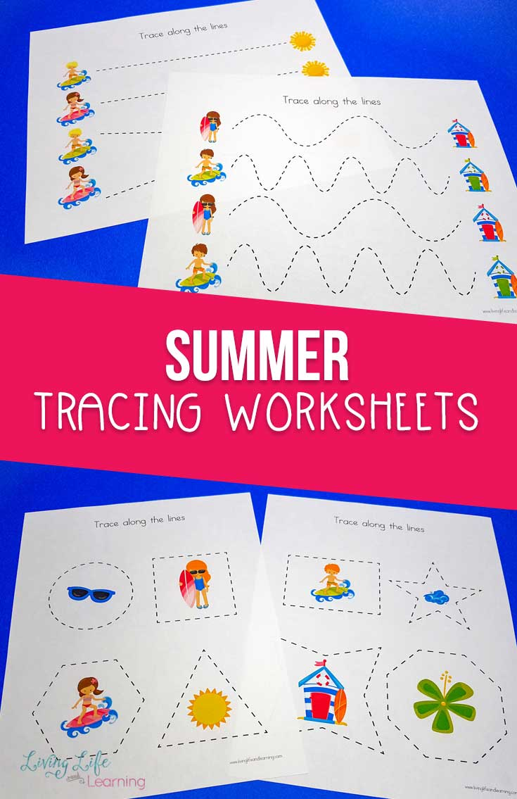 summer tracing worksheets