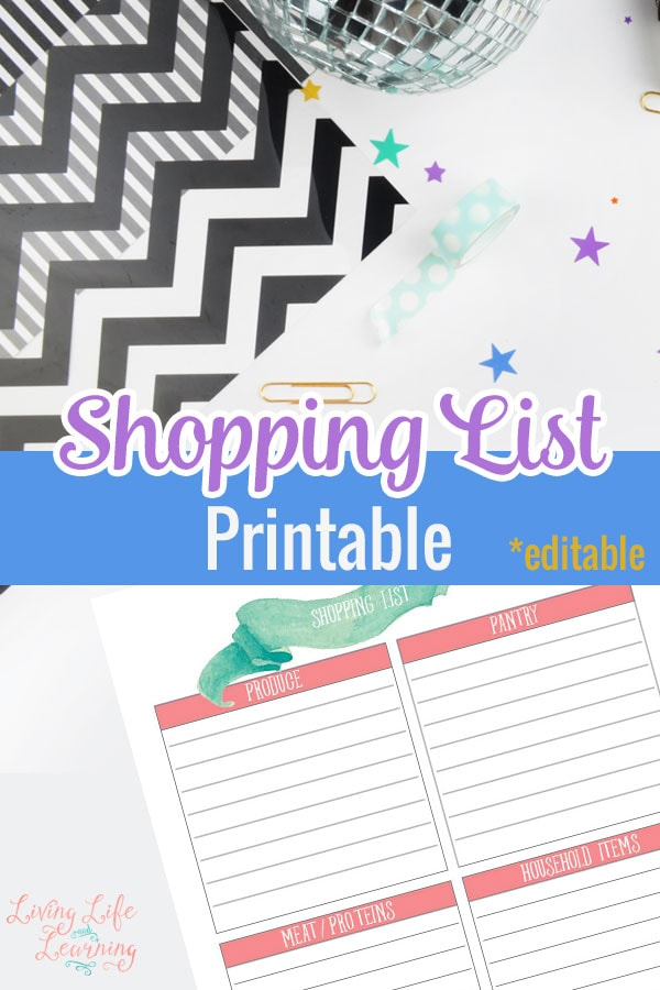 Save yourself time and money by creating a shopping list ahead of your trip with this pretty shopping list printable