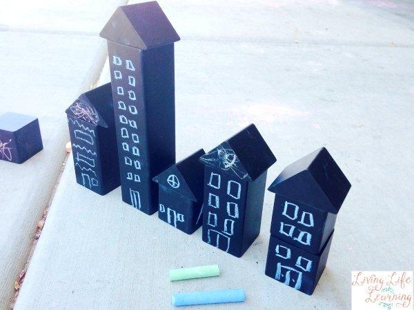 The Best Outdoor Building Blocks ~ A Chalk Adventure