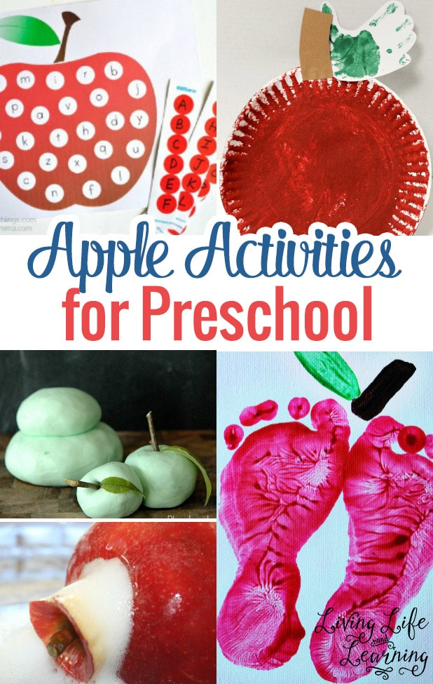 Get into the fall spirit with these Apple activities for preschool and get the red paint ready for these fun activities